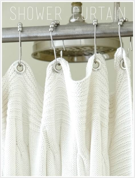 knitted curtains shower curtain diys to rev your bathroom