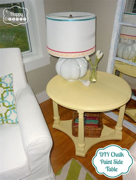 diy paint with chalk mellow yellow diy chalk paint side table the happy housie