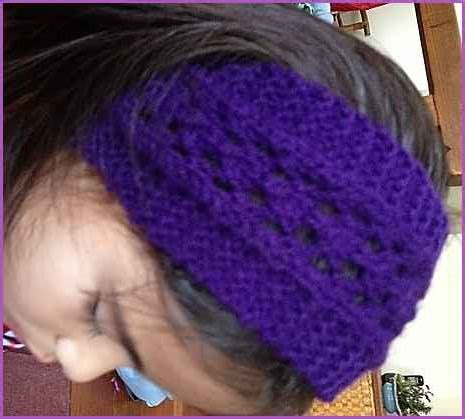 how to knit a simple headband sewing for easy lacy headband in imitation