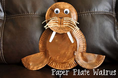 Paper Plate Walrus I Crafty Things