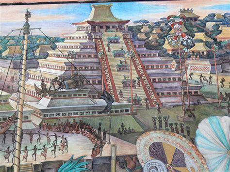 file murales rivera indianer vor tenochtitlan pyramide jpg