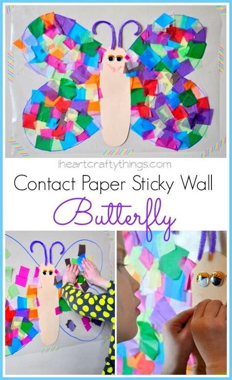 craft contact paper contact paper butterfly craft new decorating ideas