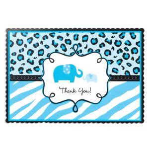 Safari Blue Baby Shower City by Blue Safari Baby Shower Thank You Notes 20ct City