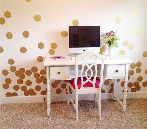 gold dot wall decals 8 and easy ways to use polka dot wall decals