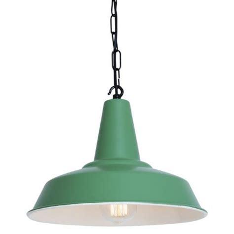 green ceiling light green industrial style tin pendant light on black chain