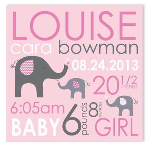 best 25 birth announcement canvas ideas on