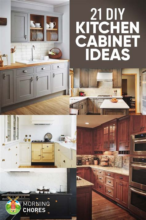 diy kitchen furniture 21 diy kitchen cabinets ideas plans that are easy cheap to build
