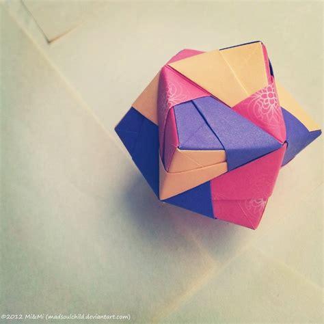 octahedron origami modular origami octahedron by madsoulchild on deviantart