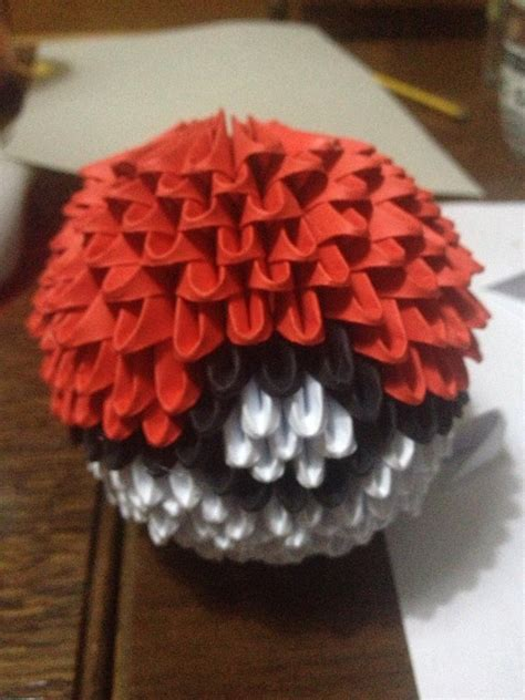 origami pokeball 3d origami pokeball by hayyelle on deviantart