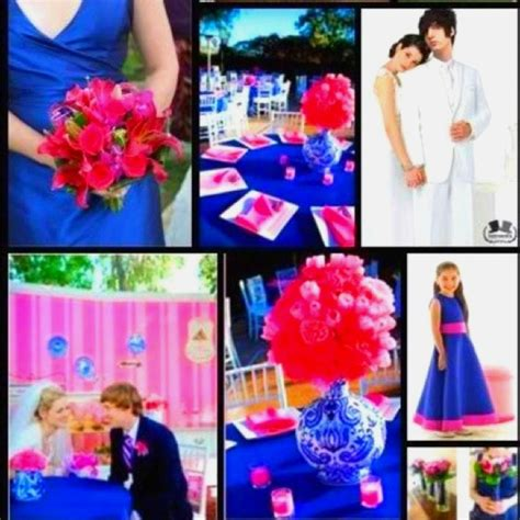 royal color scheme royal blue pink color scheme wedding of my dreams