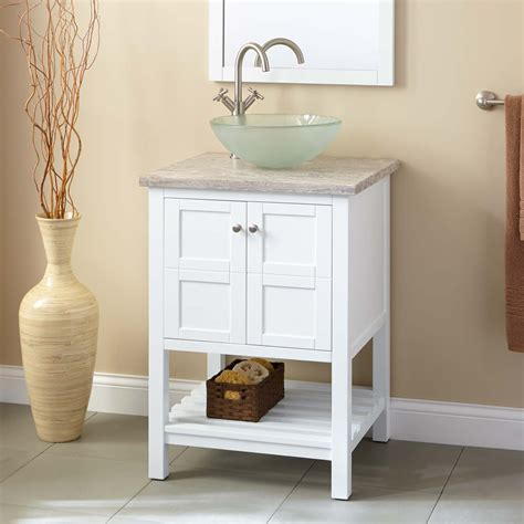 white bathroom sink vanity 24 quot everett vessel sink vanity white bathroom