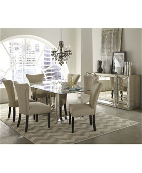 macys dining room furniture mirrored dining room furniture collection