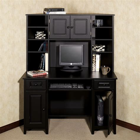 black desk with hutch decorating interesting corner desk with hutch for modern