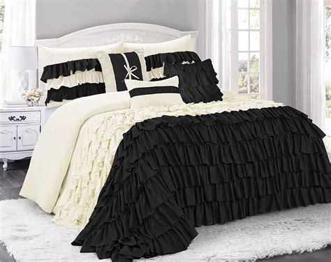 ruffled bedding sets black ruffled bedding sets bedding decor ideas