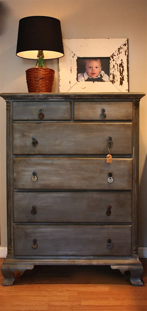 chalk paint zinc finish diy zinc faux finish on a dresser using grey paint