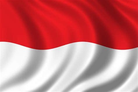 bendera merah putih bendera monaco