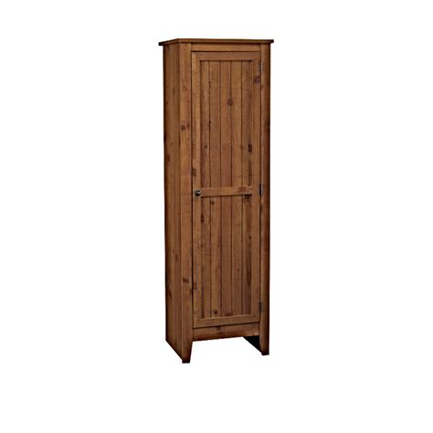 single door pantry cabinet adeptus solid wood single door pantry cabinet pecan