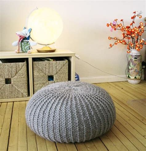 pouf pattern knit 1000 ideas about knitted pouf on floor pouf