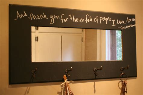 diy chalk paint wall decor tips diy chalkboard with mirror and coat hook for