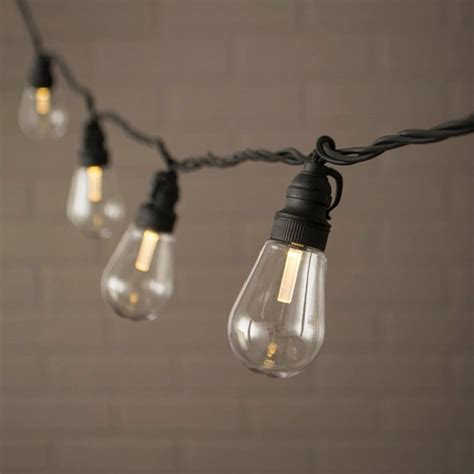 edison lights string edison string lights acrylic bulbs led 20 warm