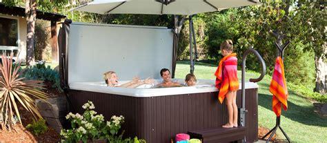 tub backyard ideas spa pool deck design backyard ideas hotspring spas nz