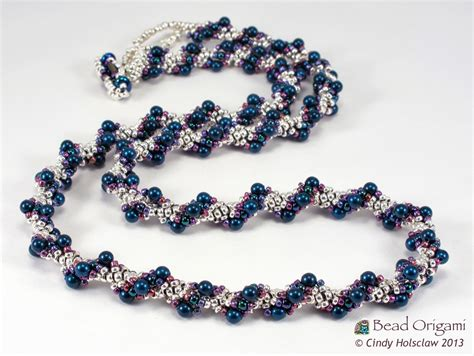 spiral beading bead origami a spiral rope and beaded swatches