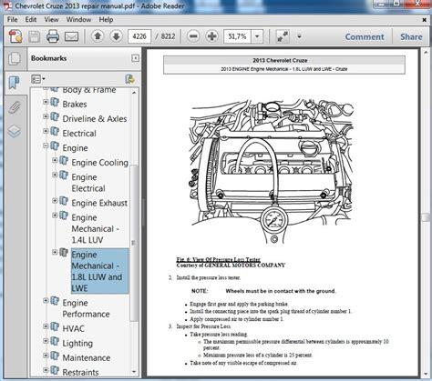 chevrolet cruze 2013 repair manual servicemanualspdf