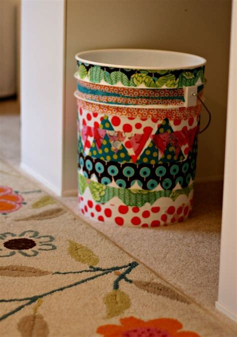 Decoupage Fabric Trash Can Home And Garden