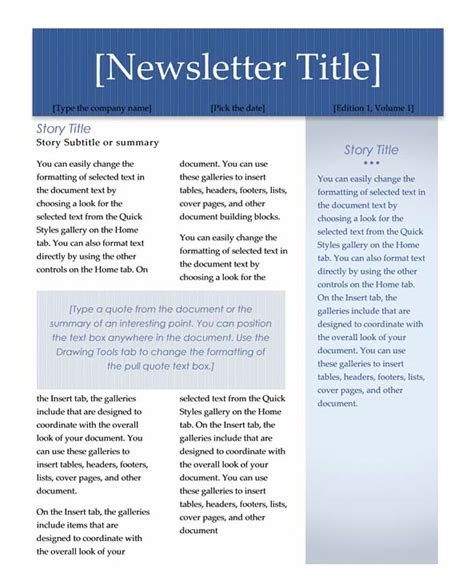 free newsletter templates for word 2007 newsletter templates free microsoft word 2007 cover