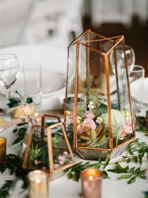 gold table centerpieces terrarium centerpiece in mixed metallics gold gold