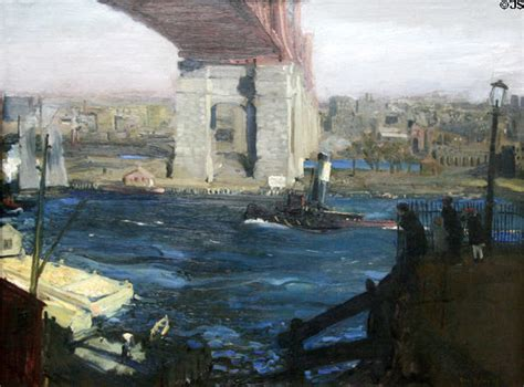 paint island new york bridge at blackwell s island painting by george bellows at
