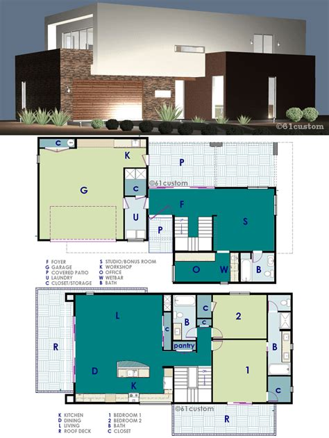 house floor plans with photos ultra modern live work house plan 61custom contemporary modern house plans