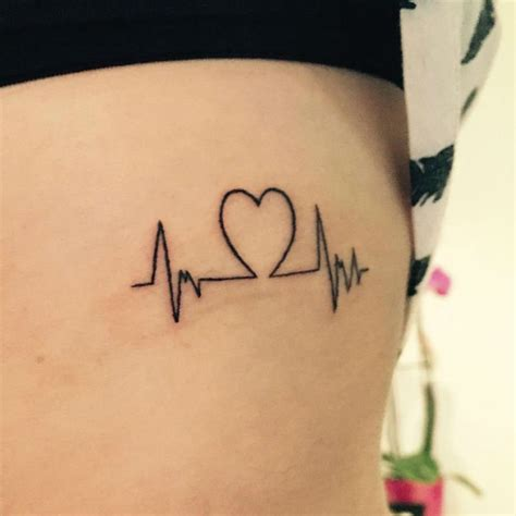 22 photos of inspiring heartbeat tattoos