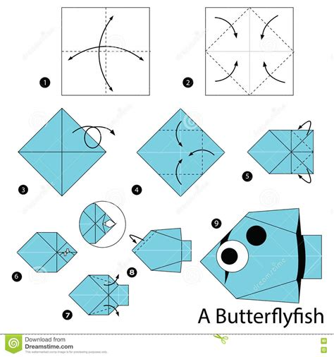 how to make origami fish step by step origami fish steps comot