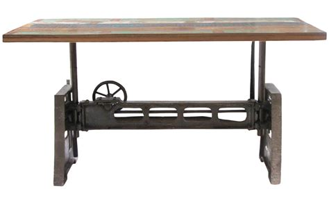 adjustable kitchen table reclaimed wood and iron adjustable dining table furniture