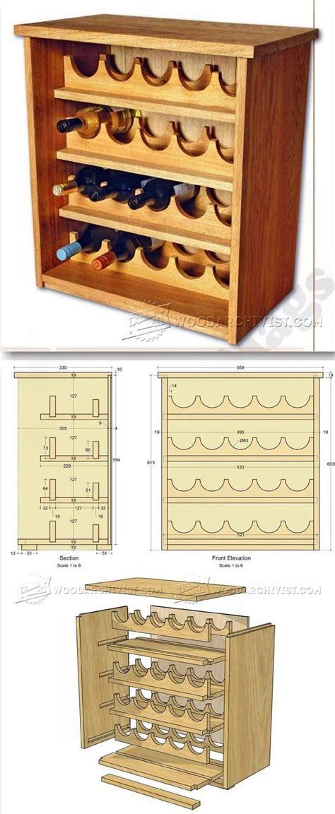 wine cabinet woodworking plans 17 best ideas about wine racks on wine rack