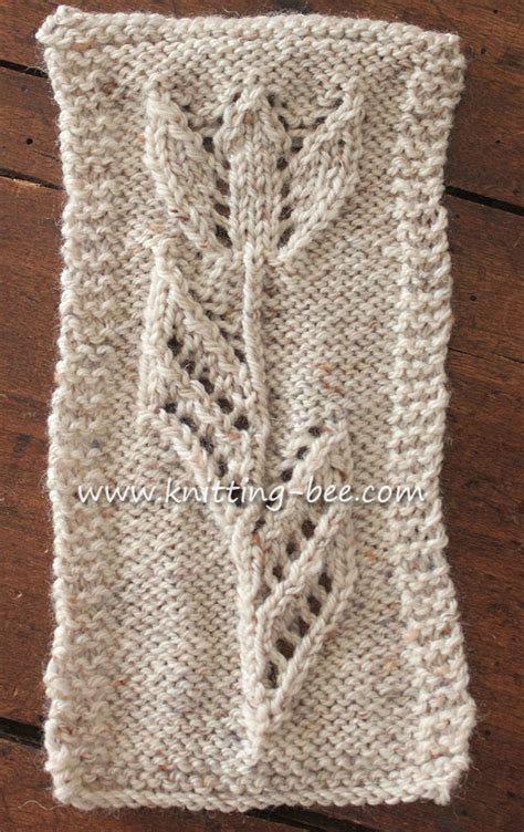 free knitting patterns tuilp motif free knitting pattern knitting bee