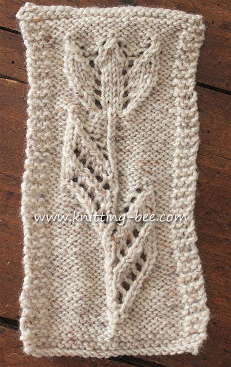 free knitting pattern tuilp motif free knitting pattern knitting bee