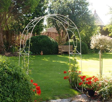 White Garden Arch Uk Crossover Garden Arches