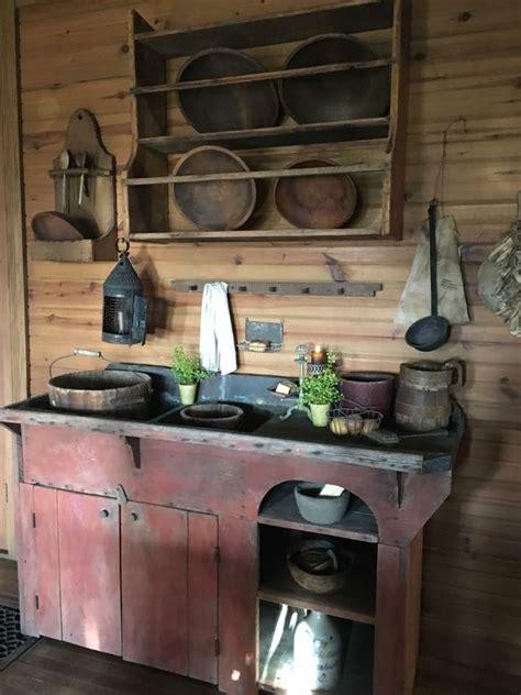 primitive kitchen decorating ideas de 25 bedste id 233 er inden for sink p 229 primitivt k 248 kken prim decor og primitive