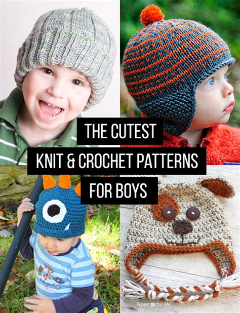knit for boys crochet and knit hat patterns for boys andrea s notebook