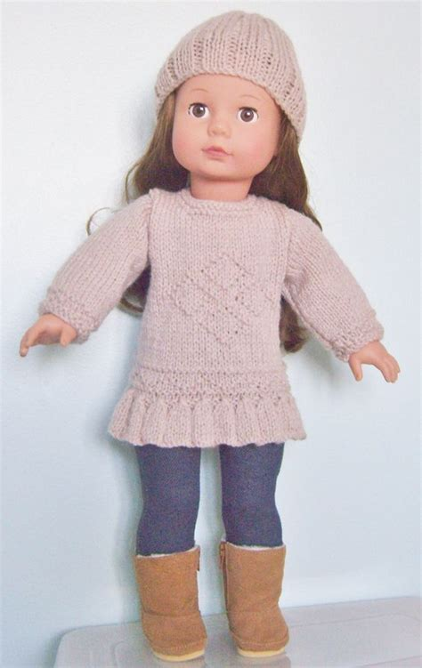 18 inch doll clothes knitting patterns free knitting pattern for 18 quot doll poppen kleding