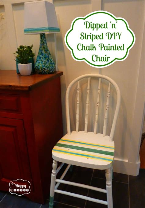 diy chalk paint chair a dipped n striped diy chalk and craft paint painted