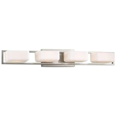 home depot bathroom lighting brushed nickel progress lighting dibs collection 4 light brushed nickel