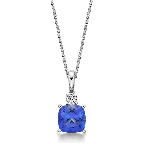 jewelry pendants 2 91 ct cushion cut tanzanite pendant richland
