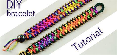 how to make macrame jewelry how to make a easy macrame criss cross bracelet 171 jewelry