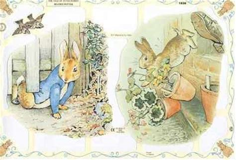 beatrix potter decoupage beatrix potter rabbit mr mcgregor from a collection
