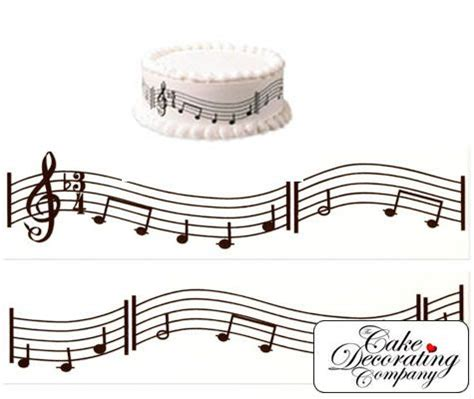 note decorations decorating a cake with musical notes notes pack of