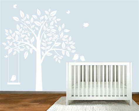 nursery decals for walls wall decal white silhouette tree nursery wall by