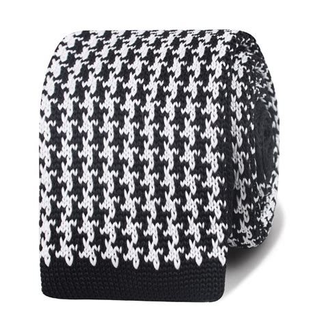 how to knit houndstooth hattori hanzo black houndstooth knitted tie knit ties